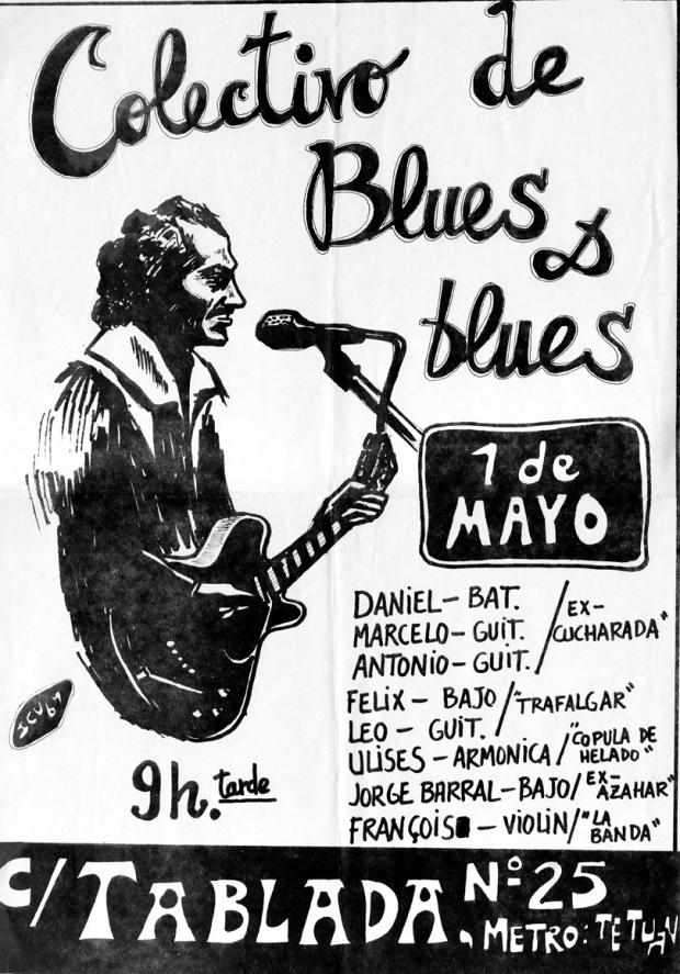 Cartel 'Colectivo de Blues', de cuando decir blues apestaba (Flaco Barral)