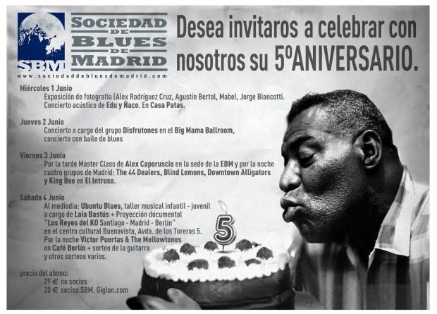 Cuatro días de celebraciones de la mano de la Sociedad de Blues de Madrid