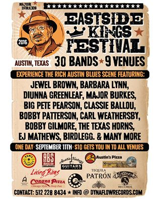 Produced by Eddie Stout (Dialtone Records & Dynaflow Records), the Eastside Kings Festival continues to grow in the historic east side of Austin.